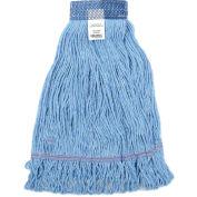 Global Industrial™ Medium Blue Looped Mop Head, Wide Band