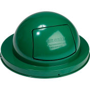 Global Industrial™ Steel Dome Lid For 36 Gallon Trash Can, Green