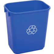 Global Industrial™ 13-5/8 Qt. Plastic Recycling Wastebasket - Blue