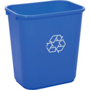 Global Industrial™ 28-1/8 Qt. Plastic Recycling Wastebasket - Blue