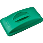Global Industrial™ Solid Recycling Lid w/Handle - Green