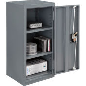 """Global Industrial™ Wall Storage Cabinet Assembled 13-3/4""""W x 12-3/4""""D x 30""""H Gray"""