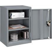 "Global™ Wall Storage Cabinet Assembled 18""W x 12""D x 26""H Gray"