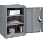 """Global Industrial™ Wall Storage Cabinet Assembled 18""""W x 12""""D x 26""""H Gray"""