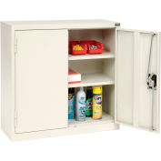 """Global Industrial™ Wall Storage Cabinet Assembled 30""""L x 12""""W x 30""""H White"""