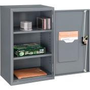 "Global™ Wall Storage Cabinet Assembled 19-7/8""W x 14-1/4""D x 32-3/4""H Gray"