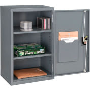 """Global Industrial™ Wall Storage Cabinet Assembled 19-7/8""""W x 14-1/4""""D x 32-3/4""""H Gray"""