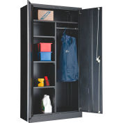 """Global Industrial™ Combination Cabinet Easy Assembly 36""""W x 18""""D x 72""""H Black"""