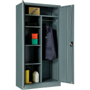 """Global Industrial™ Combination Cabinet Assembled 36""""W x 18""""D x 72""""H Gray"""