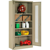 """Global Industrial™ Storage Cabinet With Expanded Metal Door Unassembled 36""""W x 18""""D x 78""""H Tan"""