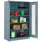 """Global Industrial™ Storage Cabinet With Expanded Metal Door Unassembled 48""""W x 24""""D x 78""""H Gry"""