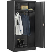 Global Industrial™ Wardrobe Cabinet Assembled 36x24x72 Black