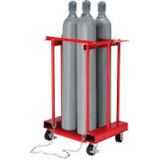 Global Industrial™ Forkliftable Cylinder Storage Caddy, Mobile For 4 Cylinders