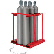 Global Industrial™ Forkliftable Cylinder storage Caddy, Stationary For 6 Cylinders
