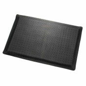"Diamond Plate Ergonomic Mat 9/16""Thick 36""W Cut Length Up To 75ft, Black"