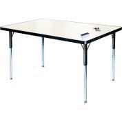 """Tableau blanc activité Table 30 """"x 72"""" Rectangle, hauteur réglable compatible avec ADA"""