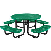 """Global Industrial™ 46"""" Child's Round Outdoor Steel Picnic Table, Expanded Metal, Green"""