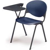 Design empilable bras chaise bureau w / gauche remis Tablet - siège marine & dos