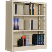 "Interion® All Steel Bookcase 36"" W x 12"" D x 42"" H Putty 3 Openings"