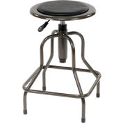 Interion® Industrial Stool - Vinyle - Noir