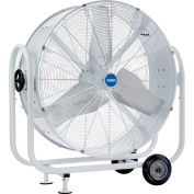 "Global Industrial™ 36"" Mobile Tilt Drum Blower Fan - Outdoor Rated - 12241 CFM - 1/2 HP"