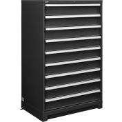 "Global™ Modular Drawer Cabinet, 9 Drawers, w/Lock, w/o Dividers, 36""Wx24""Dx57""H Black"