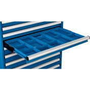 """Global Industrial™ Dividers for 3""""H Drawer of Modular Drawer Cabinet 36""""Wx24""""D, Blue"""