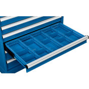 """Global Industrial™ Dividers for 4""""H Drawer of Modular Drawer Cabinet 36""""Wx24""""D, Blue"""