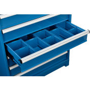 """Global Industrial™ Dividers for 6""""H Drawer of Modular Drawer Cabinet 36""""Wx24""""D, Blue"""