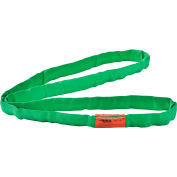 Global Industrial™ Polyester Round Sling, Endless, 4 Ft. x 1.25 In, 5300/4200/10600 Lbs Cap