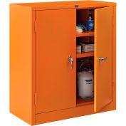 "Global Industrial™ Emergency Preparedness Cabinet, Counter Height, 36""Wx18""Dx42""H, Orange"