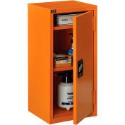 "Global Industrial™ Emergency Preparedness Cabinet, Wall Mount, 13-3/4""Wx12-3/4""Dx30""H, Orange"