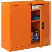 "Global Industrial™ Emergency Preparedness Cabinet, Wall Mount, 30""Wx12""Dx30""H, Orange"