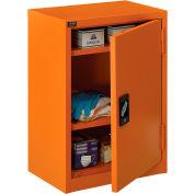 "Global Industrial™ Emergency Preparedness Cabinet, Wall Mount,19-7/8""Wx14-1/4""Dx32-3/4""H,Orange"