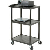 Plastic Audio Visual & Instrument Cart 32 X 24 X 54 Three Shelves