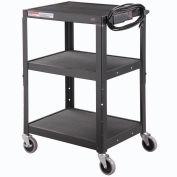 Global® Industrial Steel Audio Visual & Instrument Cart - Black