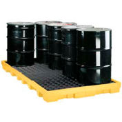 Eagle 1688 8 Drum Spill Containment Platform - Yellow with No Drain