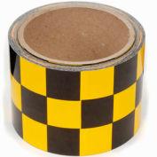 """Ruban danger damier, incom® - jaune/noir, 3"""" W x 54' L, 1 rouleau"""