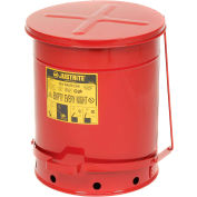 Justrite 14 Gallon Oily Waste Can, Red - 09500