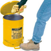 Justrite 14 Gallon Oily Waste Can, Yellow - 09501