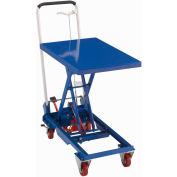 Table élévatrice en ciseau mobile Best Value avec poignée repliable, capacité de 330 lb - Plateforme de 27x17