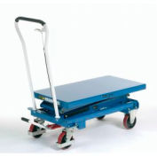 Best Value Mobile Scissor Lift Table 1100 Lb. Capacity - Double Scissor - 39 x 20 Platform