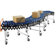 "Portable Flexible & Expandable 6'2"" to 24'8"" Conveyor - Nylon Skate Wheels - 24""W"
