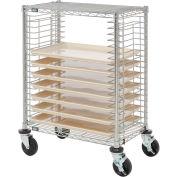 Nexel® Side Load Wire Tray Cart with 19 Tray Capacity