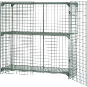 """Global Industrial™ Wire Mesh Security Cage Locker, 36""""Wx24""""Dx72""""H, Gray, Unassembled"""