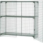 Cage de sécurité grillagée, casier ventilé, 48x24x60
