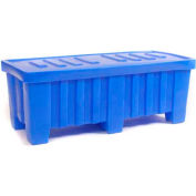 """Myton Forkliftable Bulk Shipping Container MTO-2 with Lid - 51-1/2""""L x 22-1/2""""W x 19""""H, Black"""