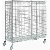 Nexel® Wire Security Storage Truck 48 x 24 x 69 1200 Lb. Capacity