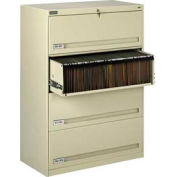"""Deluxe Retracting Front Lateral File Cabinet 42""""W X 52""""H - Putty"""