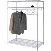 Support à vêtements vertica - 3 tablettes - 48 po de largeur x 24 po de diamètre x 74 po de hauteur - Chrome
